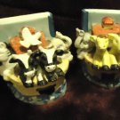 "SET OF NOAH'S ARK BOOKENDS....APPROX 4"" TALL...COLORFUL & DETAILED"
