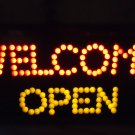 "LED ""WELCOME"" ""OPEN"" SIGN..FLASHING OPEN...RED/YELLOW...19"" X 9 3/4""..NEW IN BOX"