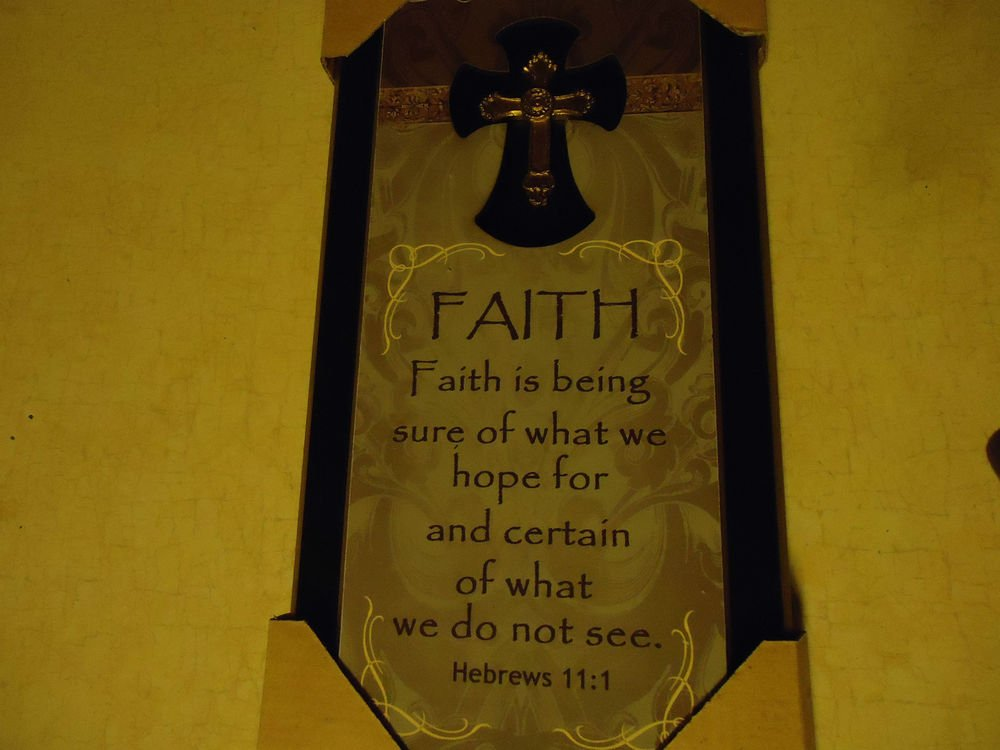 WALL PLAQUE WITH CROSS & FAITH.....NEW.....GREAT GIFT