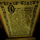 """FRAMED & MATTED CROSS STITCH..'WHEN I WALKED ALONE""""..12 1/2"""" X 15 1/2""""..NICE"""