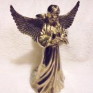 "SILVERPLATED 8"" ANGEL CANDLEHOLDER BY INTERNATIONAL SILVER CO,....NICE"