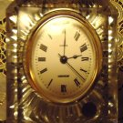 CRYSTAL D' ARGUS FRANCE LEAD CRYSTAL DESK/MANTEL CLOCK..QUARTZ..PERFECT FOR DESK