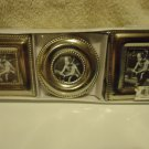 SET OF THREE SILVERPLATE SMALL PICTURE FRAMES IN A BOX....NICE FINISH