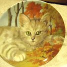 """FOREST CAT"" FINE PORCELAIN DECORATIVE PLATE BY CATS COLLECTION..8"" IN DIAMETER"