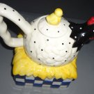 COOKS CLUB QUALITY COUNTRY HEN TEAPOT ON NEST WITH BABY CHICK... PORCELAIN