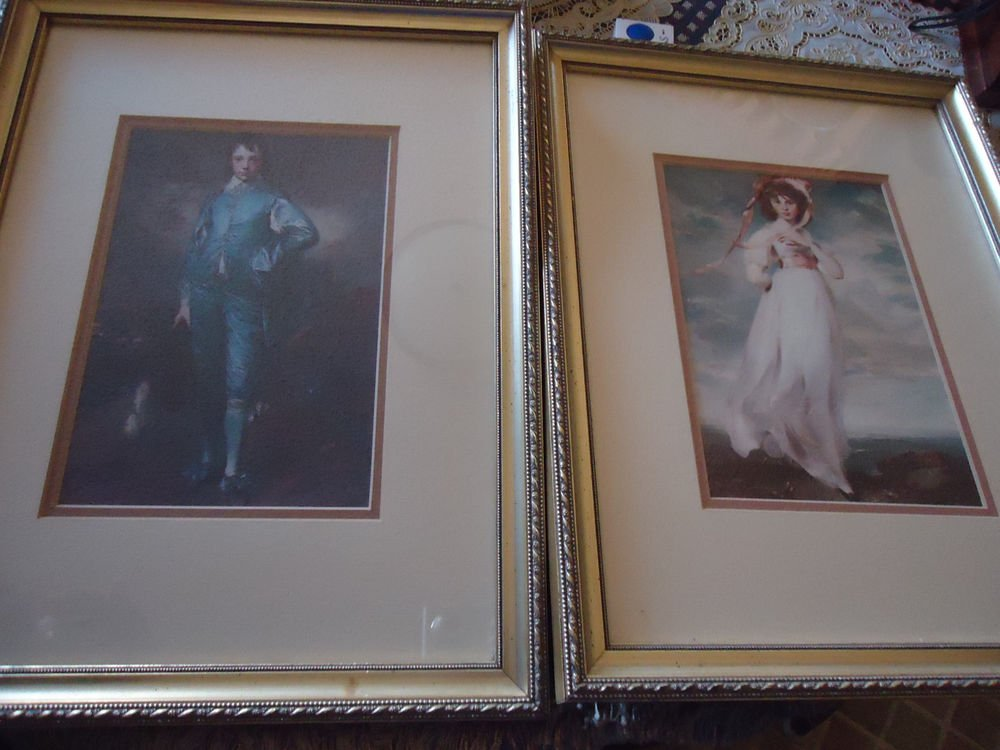 VINTAGE BLUE BOY BY GAINSBOROUGH AND PINKIE BY LAWRENCE FRAMED PRINTS