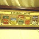 FRAMED BEANS VARIETY & DECOR FOR KITCHEN/DINING...BROWN WOOD FRAME....NICE