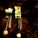 SET OF TWO REFRIGERATOR WIND CHIME MAGNETS...COFFEEPOT & ROLL...VEGGIES