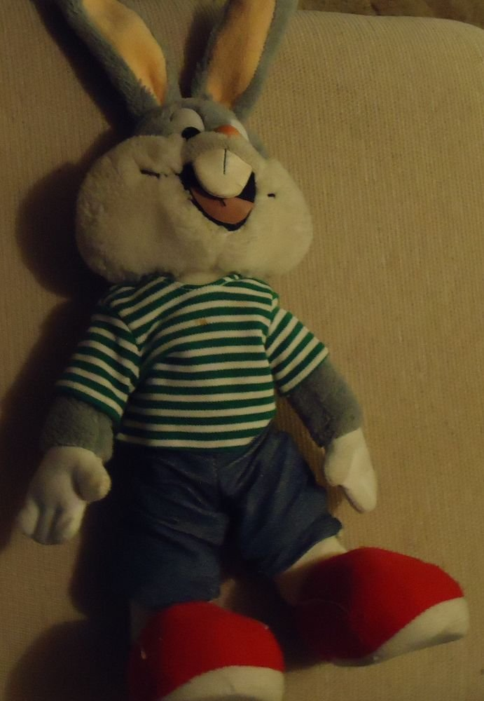"VINTAGE BUGS BUNNY APPROX. 15"" TALL....POSEABLE...HARD TO FIND!!!!"