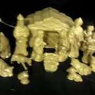 LIGHTED 15 PC NATIVITY PEARLIZED CERAMIC..CREAM SHINEY COLOR...LARGE SIZE