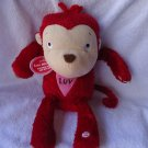 "MUSICAL  ""LUV MONKEY"" WAVES ARMS & SINGS...SO CUTE....APPROX 13"" TALL"
