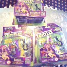 SET OF THREE SWAPPZ TEENAGE MUTANT TURTLES  FIGURE KEY CHAIN & FREE GAME