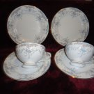 2 TEA CUPS/SAUCERS & 2 BREAD/BUTTER IMPERIAL CHINA SEVILLE-DESIGNED BY DALTON