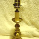 "SMALL BRASS TABLE LAMP ...NICE FINISH...APPROX 15"" TALL TO TOP OF BULB"