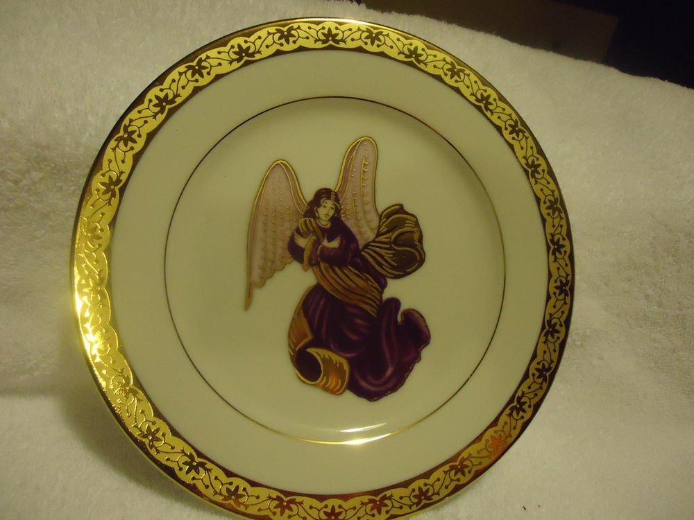 MUIRFIELD DECORATIVE ANGEL PLATE # 9408 CELEBRITY MADE IN SRI LANKA..PURPLE
