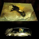 DECORATIVE FOLDING EAGLE POCKET KNIFE IN NICE WOODEN GIFT BOX ....GREAT GIFT