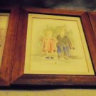 SET OF THREE SKETCH/CARTOONIST TYPE FRAMED DRAWINGS-WATERCOLORS??? T. SLACK 1965