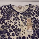 GIRLS/LADIES WHITE STAG STRETCH BLACK/WHITE/GRAY BLOUSE..SIZE  4-6...PRETTY