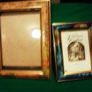 "TWO DECORATIVE WOODEN FRAMES... PICTURE SIZE 4 1/2 X 6 1/2-3"" X 4 1/2"""