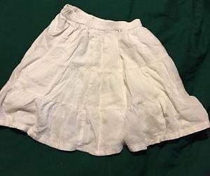 Adorable Cherokee Kids White Skirt Girls Size S6-6X