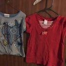 GYMBOREE GIRLS SIZE 8 SHORT SLEEVE RED & White SHIRT EUC