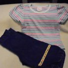 BUSTER BROWN STRIPED TEE SHIRT & HEALTHTEX BLUE PANTS....SIZE 2T...CUTE OUTFIT