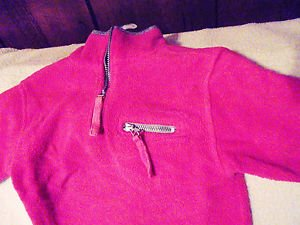 FUNYEARS PINK WITH GRAY COLLAR FLEECE SLIPOVER JACKET...SIZE 24 MTS..CUTE & WARM