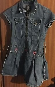 EUC Speechless Embroidered Denim Dress, size 10