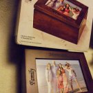 WOODEN WALNUT FINISH JEWELRY/KEEPSAKE FAMILY MEMORIES JEWELRY BOX..NEW IN BOX