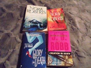 NORA ROBERTS & JD ROBB NOVELS......SET OF 4...PAPERBACKS