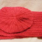 CHARLOTTE RUSSE INFINITY SCARF AND MATCHING CAP...CORAL..NEW WITH TAGS..STUNNING