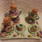 PRETTY 10 PC ANGEL TEA SET....DETAILED & COLORFUL