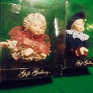 SET OF TWO PORCELAIN JESTER/CLOWN SMALL DOLLS BY FOREVER INTERNATIONAL...APP 4""