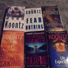LOT OF 6..DEAN KOONTZ NOVELS----PAPERBACK----
