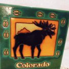 "MASTERWORKS CERAMIC TILE TRIVET/COASTER...""MOOSE""...6 X 6 HANDCRAFTED IN USA"