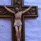 "WALL HANGING CROSS WITH JESUS...11 1/2"" X 7 1/2""..BEAUTIFUL & SO DETAILED"