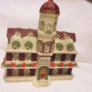 "LIGHTED CERAMIC ""VICTORIA STATION""  CHRISTMAS VILLAGE.....PRETTY"