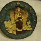"BEAUTIFUL 3D ANGEL PLATE...SO UNIQUE & DETAIL...APPROX 8"" IN DIAMETER...HANGAR"