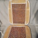 WOOD BEADED RATTA MASSAGE/STAY COOL SEAT OR CHAIR COVER....SUCH COMFORT