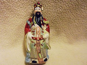 """BEAUTIFULLY DETAILED CHINESE FIGURINE BY ANDREA SADAK/PORCELAIN... APPROX 7"""""""