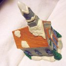 "LIGHTED CERAMIC ""CHURCH WITH STEEPLE""  FOR CHRISTMAS VILLAGE.....PRETTY...LOT#4"