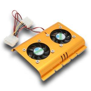 """Dual 3.5"""" HDD Hard Disk Drive Heatsink Cooler Fan (#FN13)"""