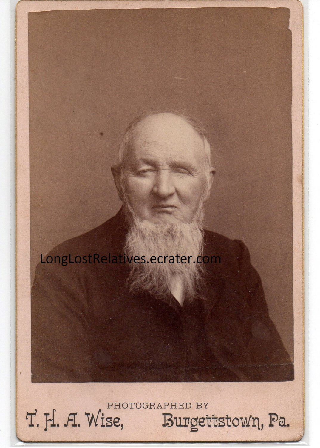 Thomas patterson vance cabinet card