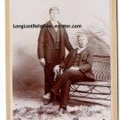 John Chester Parrish & George Allen Birch Cabinet Card, San Bernardino, CA
