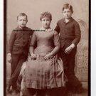 Frank, Maude and John Parrish Cabinet Card, San Bernardino,CA