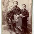 Frank, George and John Parrish Cabinet Card, San Bernardino,CA
