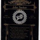 John Sanker Funeral Card