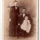 James Sylvester Glass and Catherine Ann Gonsman Cabinet Card, Cresson,PA