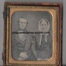 William Rufus Richmond and Abigail Leonard Ambrotype