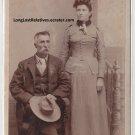 George Monroe Ward and Martha Jane Nidiffer Cabinet Card